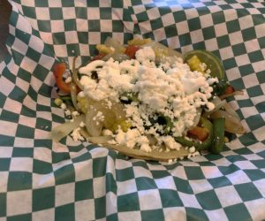 Taco Choza's veggie taco.