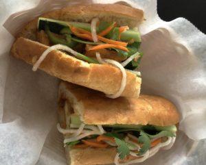 Eatz Vietnamese's sambal spicy tofu banh mi.