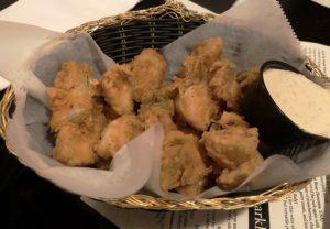 Amici's artichoke fritters appetizer.