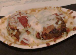 The meatballs and mozzarella appetizer at Amici.