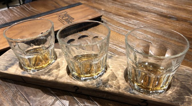 Rye Not, one of the whiskey flights at Down One Bourbon Bar, offers tastes of Bulleit, Russell's Reserve and Rittenhouse rye whiskeys.