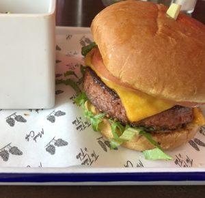 The Beyond Burger at Morels Cafe.