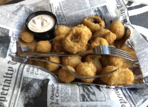 Hooked on Frankfort's crisp, breaded fried mushrooms with horseradish-laced petal sauce, a Texas tradition, a creamy, spicy horseradish sauce.