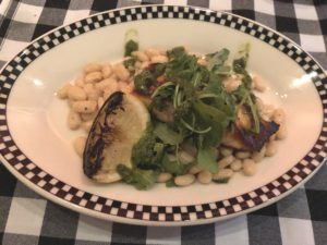 Roast salmon over white beans offers a real Tuscan experience at Palatucci's.