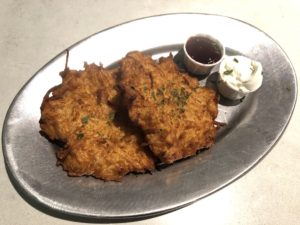 Potato pancakes at The Hall on Washington.