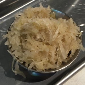 You can't have a German meal without sauerkraut, and The Hall on Washington's gets the job done.