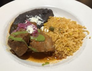 A classic pork dish from Yucatan, Las Margaritas' cochinita pibil is melting tender marinated, roasted pork.