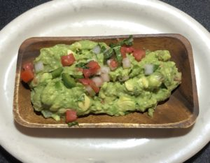 Las Margaritas' Guacamole Veracruz-style is fresh, flavorful, and coarsely mashed.