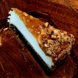 The Charcoal Restaurant's good New York-style cheesecake got even better with baklava ingredients on top.