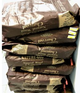Eight big bags of natural wood charcoal won't last long at The Charcoal Restaurant.