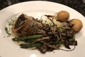 Mushroom strudel at Mesh is a thoughtful, impressive vegetarian entree.