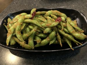 Ramen House's spicy edamame add a tasty punch to this healthy soybean snack.