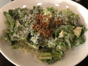SOU's caesar salad is topped with crunchy anchovy-scented crushed croutons.