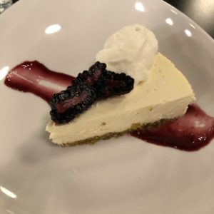 Capriole goat cheese adds flavor to SOU's delicious cheesecake.