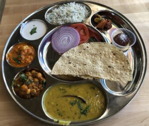 Honest's Punjabi Thali offers a selection of typical dishes from Northern India's Punjab.