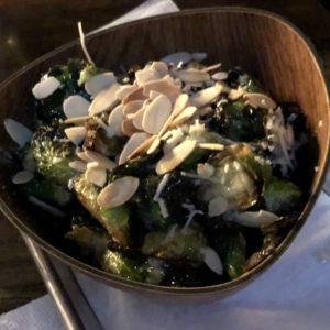 Sliced almonds add flavor and crunch to Agave & Rye's crispy brussels sprouts.