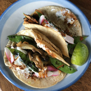 Red Hog's meatless frondosa mushroom and charred snow-pea tacos were a culinary wowza.