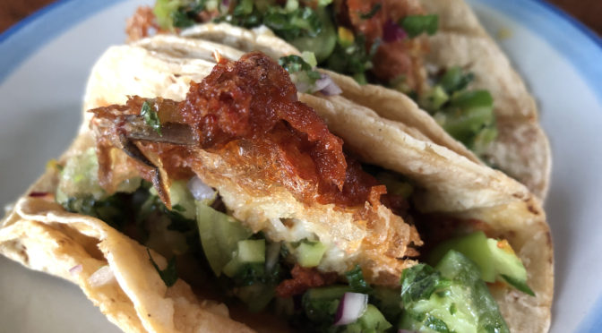 Soft shell crab tacos lure us to Red Hog