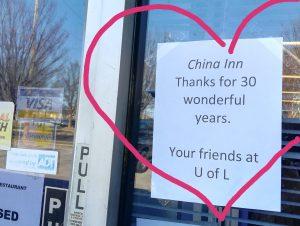 China Inn near U of L closed after 30 years.