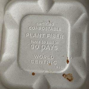 Sustainability is key at V-Grits, right down to such basics as compostable takeout boxes.