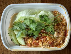 Simply Thai's Thai  lettuce wraps, a.k.a. nam prik ong, require some assembly, but this fiery app is worth the effort.