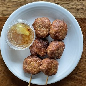 You say tod mun moo, I say meatballs. Either way, this Simply Thai appetizer is a savory treat.
