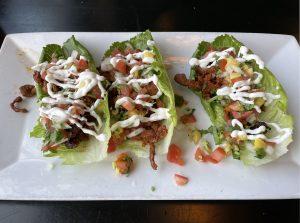 One of Limón y Sal's Taco Week specials was a keto carnitas taco.