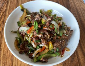 Cumin lamb is loaded with meat but treads lightly with the cumin flavor.