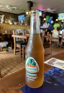 A tart-sweet tamarind-flavor Jarritos Mexican soft drink is my taqueria beverage of choice when I'm not having a cerveza, er, beer.