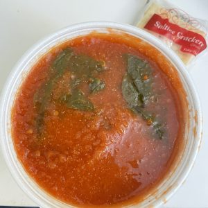 Adding spinach to homemade tomato soup makes it Florentine ... and makes it delicious.