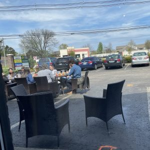 Outdoor dining like that pictured at Límon Y Sal this summer remains popular both for atmosphere and Covid protection, but colder weather will pose a challenge.