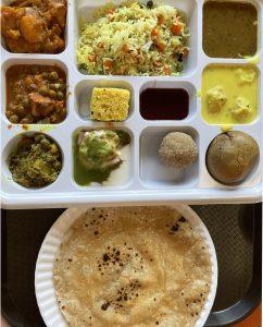 This spicy thali platter offers tastes from Northwestern India's Rajasthani region, near Pakistan.