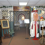 Dining among the antiques