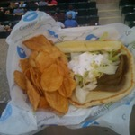 Gyros at the park. Not the bes…