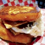 Tom+Chee does it on a donut … or not
