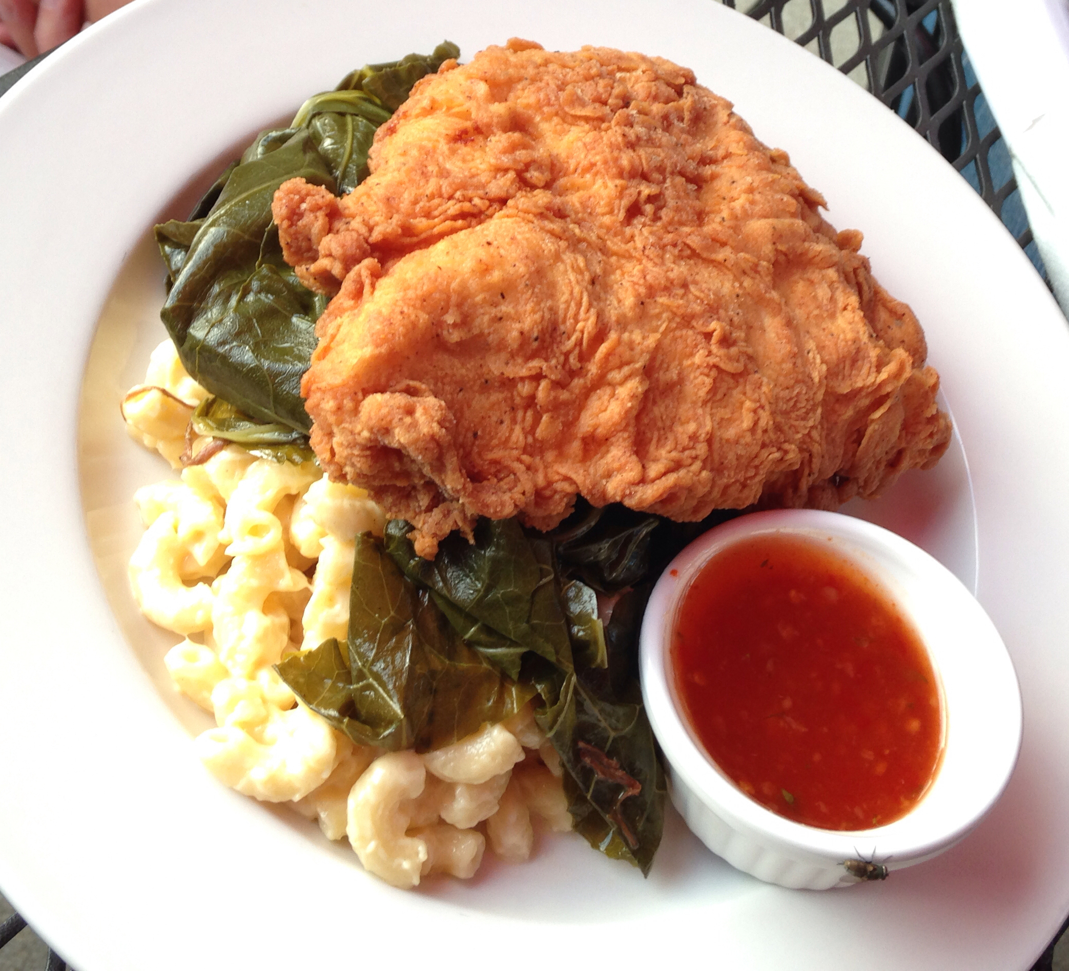 Fried chicken at the Coach Lamp