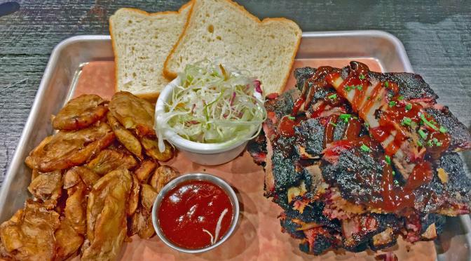 We try not to go all snob on Guy Fieri's Smokehouse