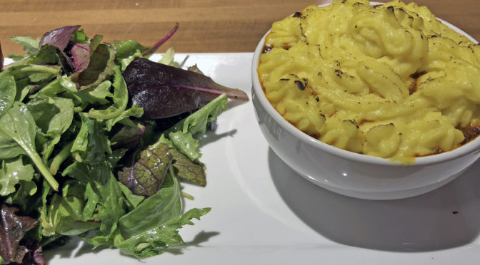 The Fusion in Tandoori Fusion: Indian lamb vindaloo served in a British shepherd's pie.