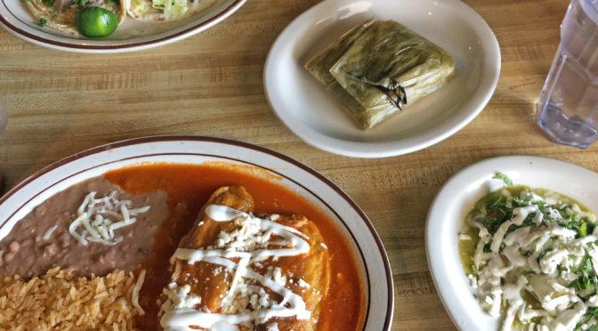 A hearty lunch at La Lupita