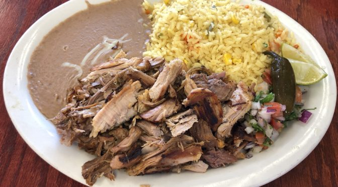 La Sierra Tarasca's carnitas show off the style of Michoacán, where the iconic pork dish originated.