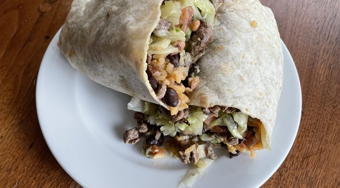 Taco Choza's burrito is bigger than your sled. Well, almost.