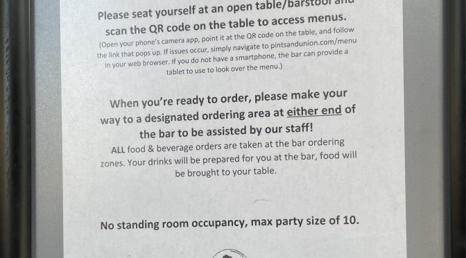 Pints & Union in New Albany kept its strict safety standards in place even when vaccinations made the Covid situation look a little better.